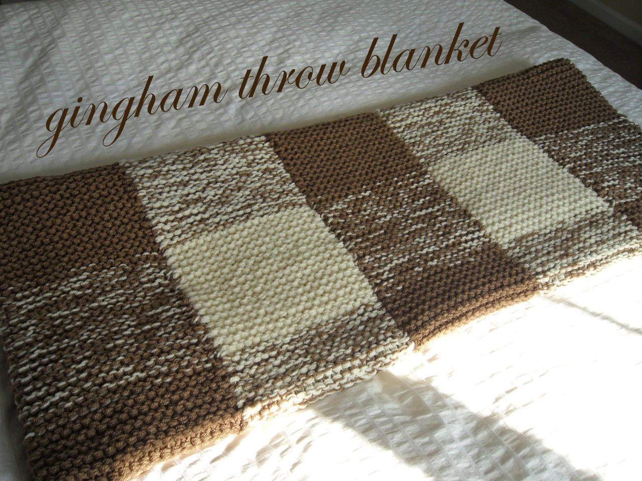 Gingham Throw Blanket