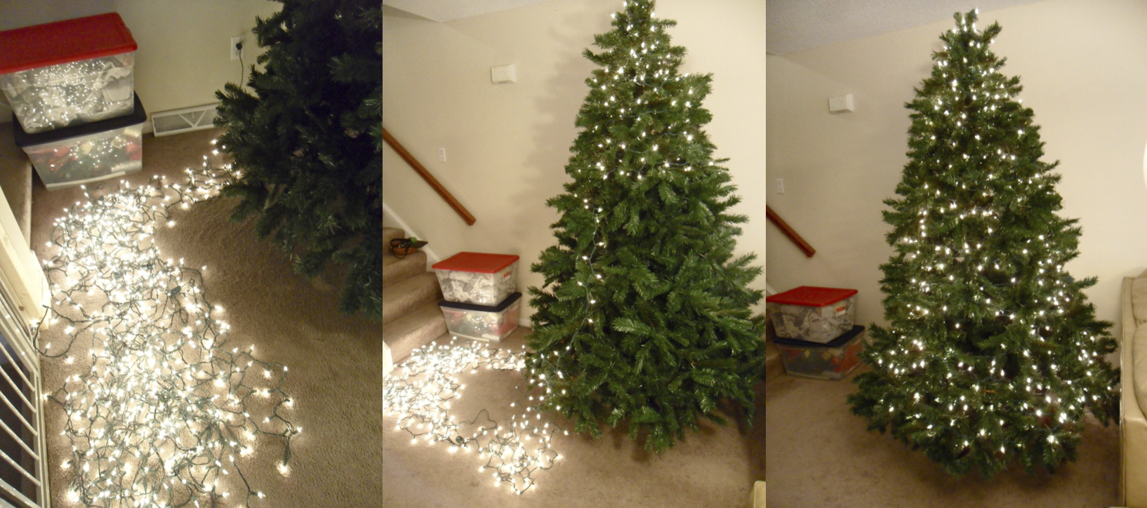 How To String Lights On A Large Christmas Tree : Tips for Decorating Your Christmas Tree making it with danielle