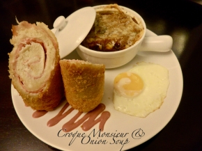 Croque Monsieur and Onion Soup
