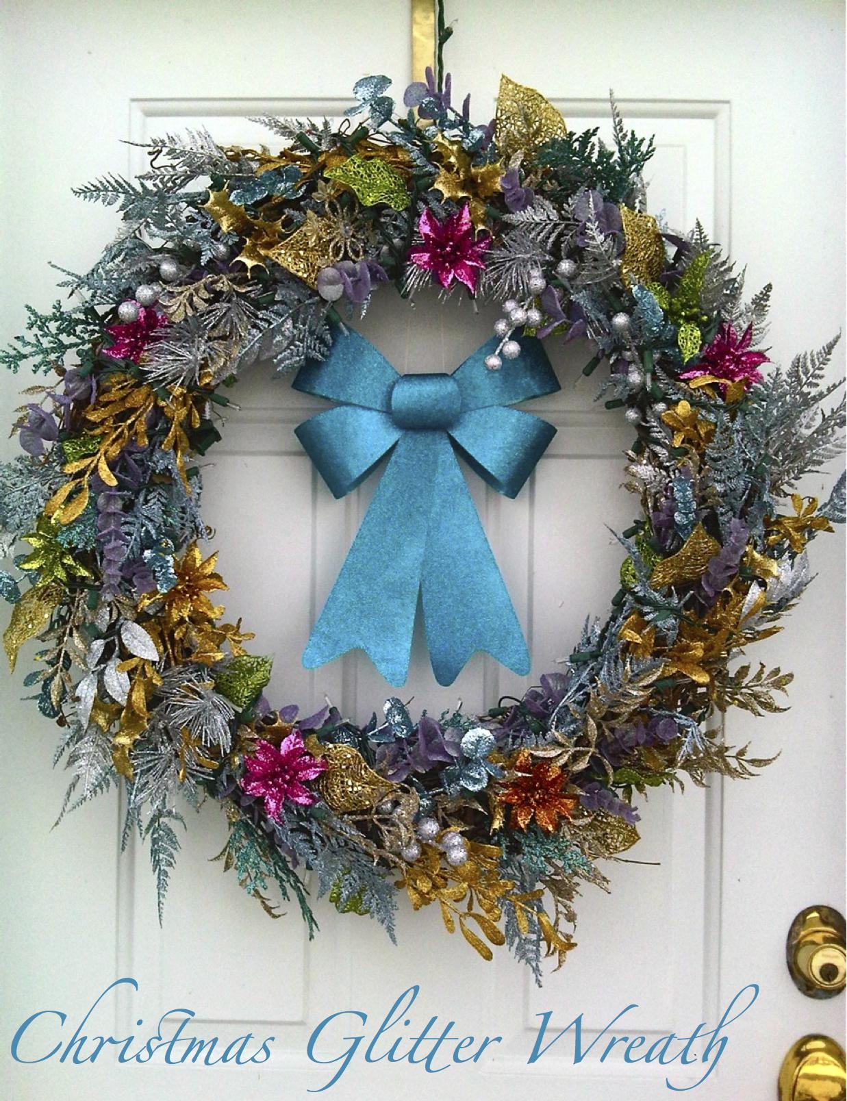 Christmas Glitter Wreath |
