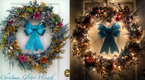 Christmas Glitter Wreath
