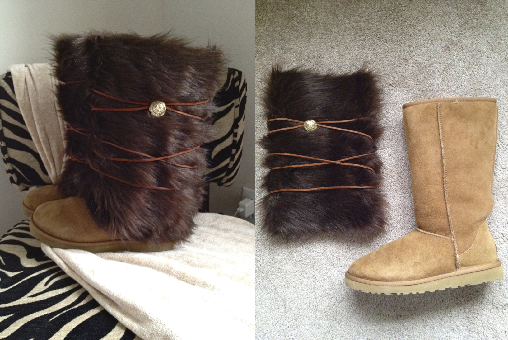 Removable Faux Fur Boot Covers Making It With Danielle