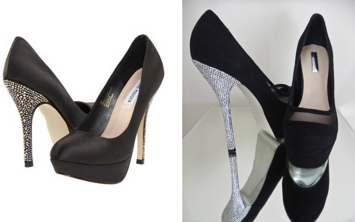 Rhinestone Heeled Pumps