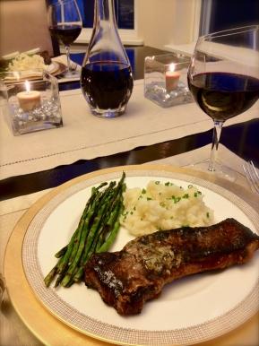 Restaurant Steak Dinner