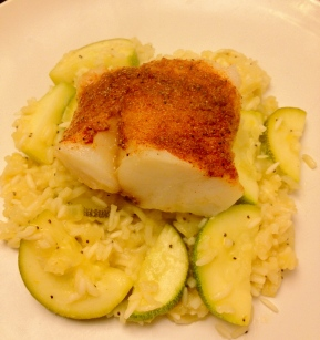 Spice Rubbed Cod with Lemon Rice