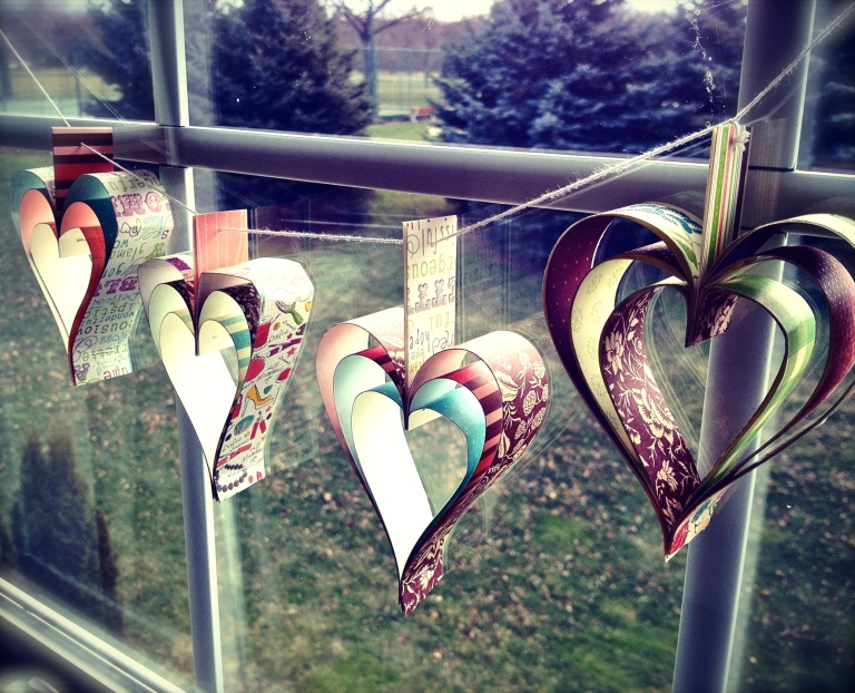 Paper Heart Garland