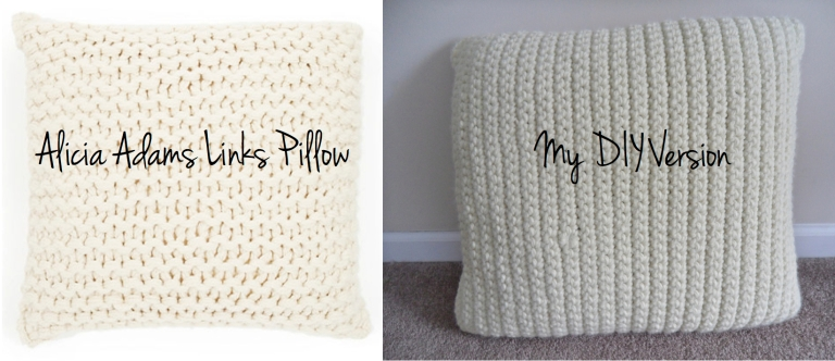DIY Alicia Adams Link Pillow