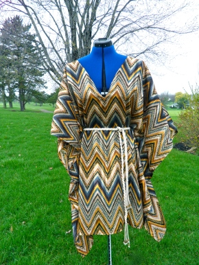No Pattern Caftan Dress Front