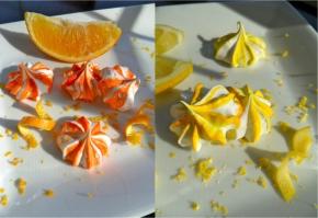 citrus meringues