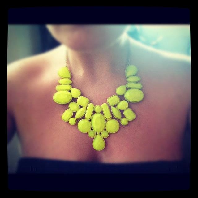 diy neon statement necklace - photo #6