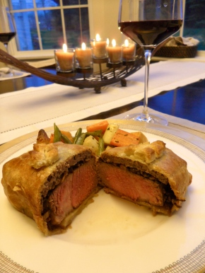 Individual Beef Wellingtons with Roasted Vegetables