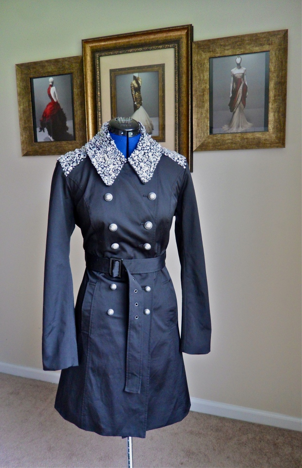 DIY Burberry Gem Embellished Trench, My Version