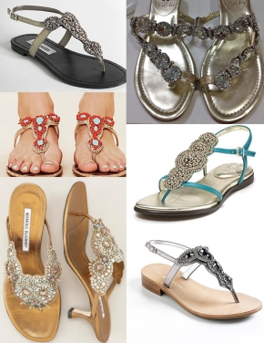 Beaded Sandal Inspiration Board