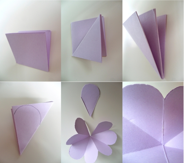 folding flowers