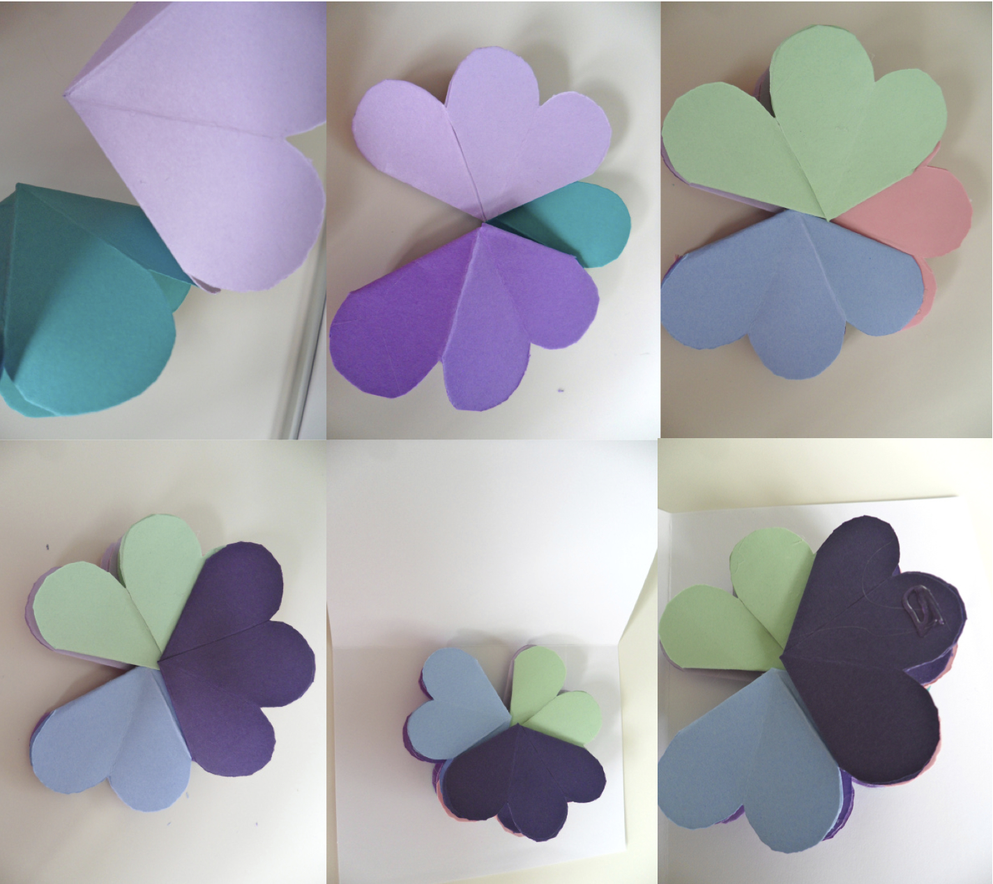 gluing flowers - Make A Pop Up Card