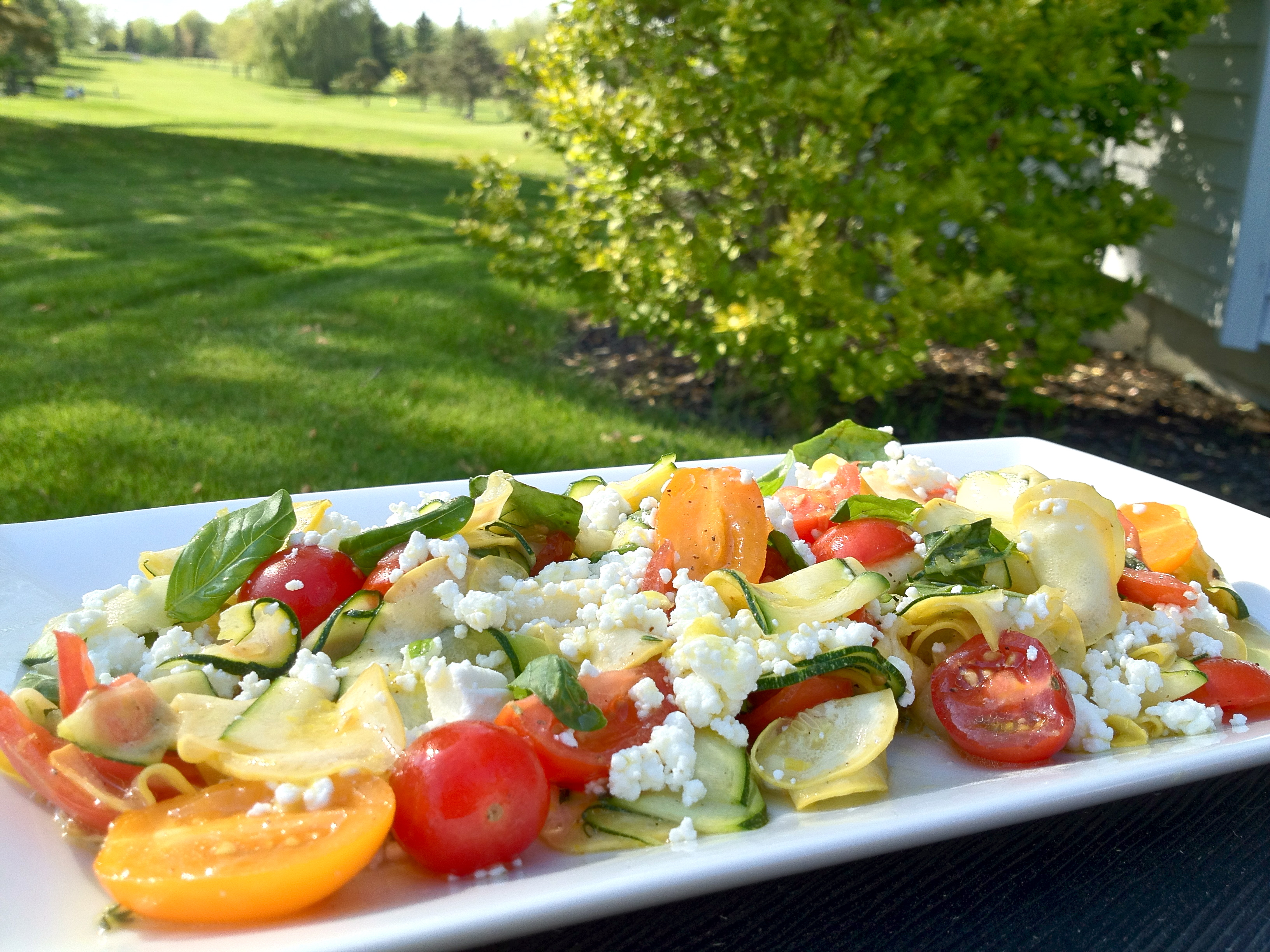 ... and raw summer squash and cucumber shaved summer squash salad