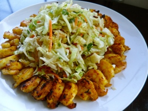 Grilled Indian Shrimp with Asian Chopped Salad