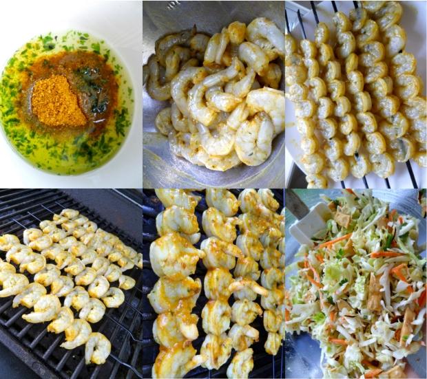 shrimp and salad