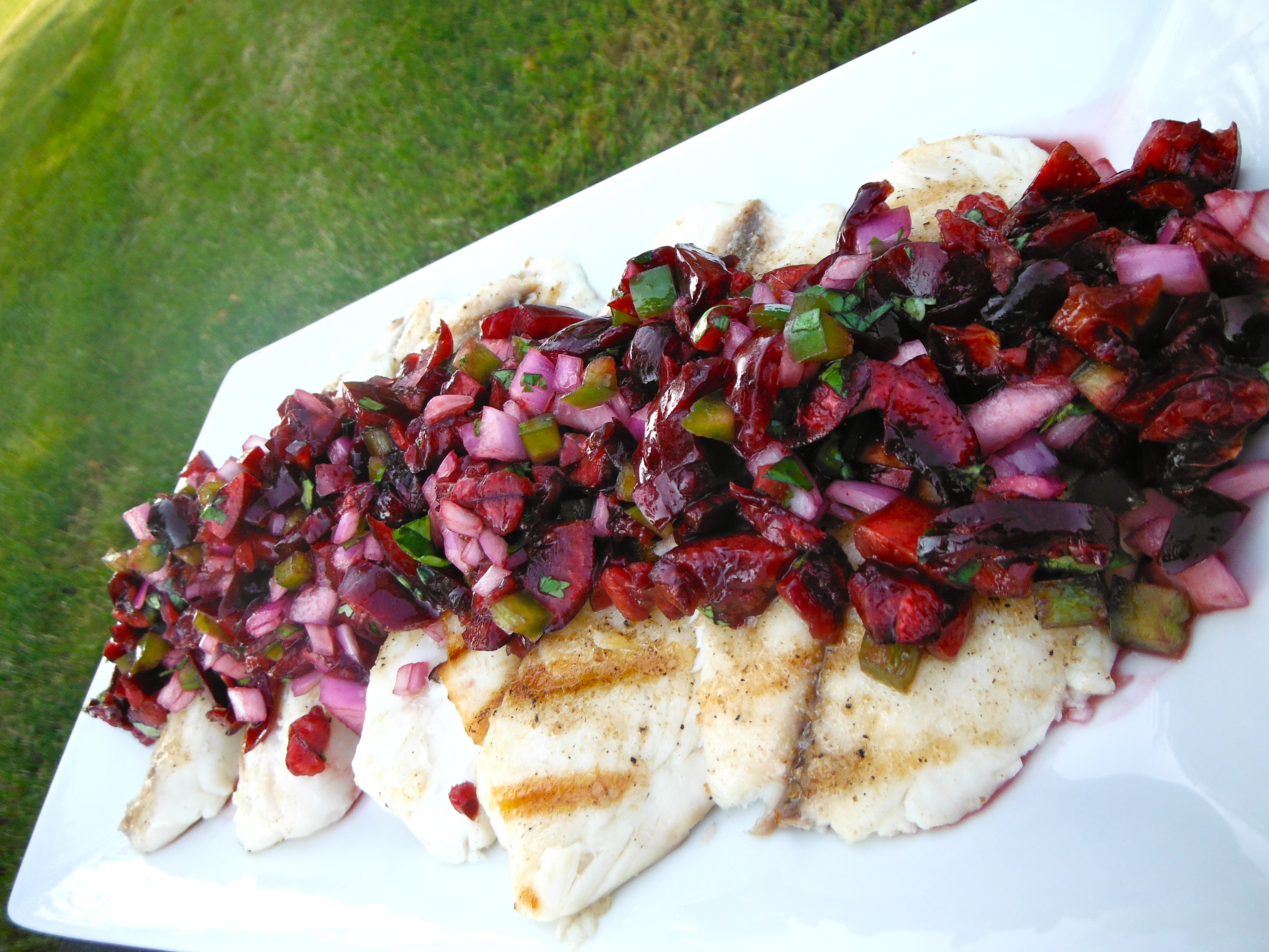 Grilled Tilapia with Cherry Salsa | making it with danielle