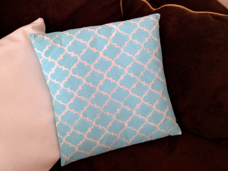 Painted Fabric Pillow