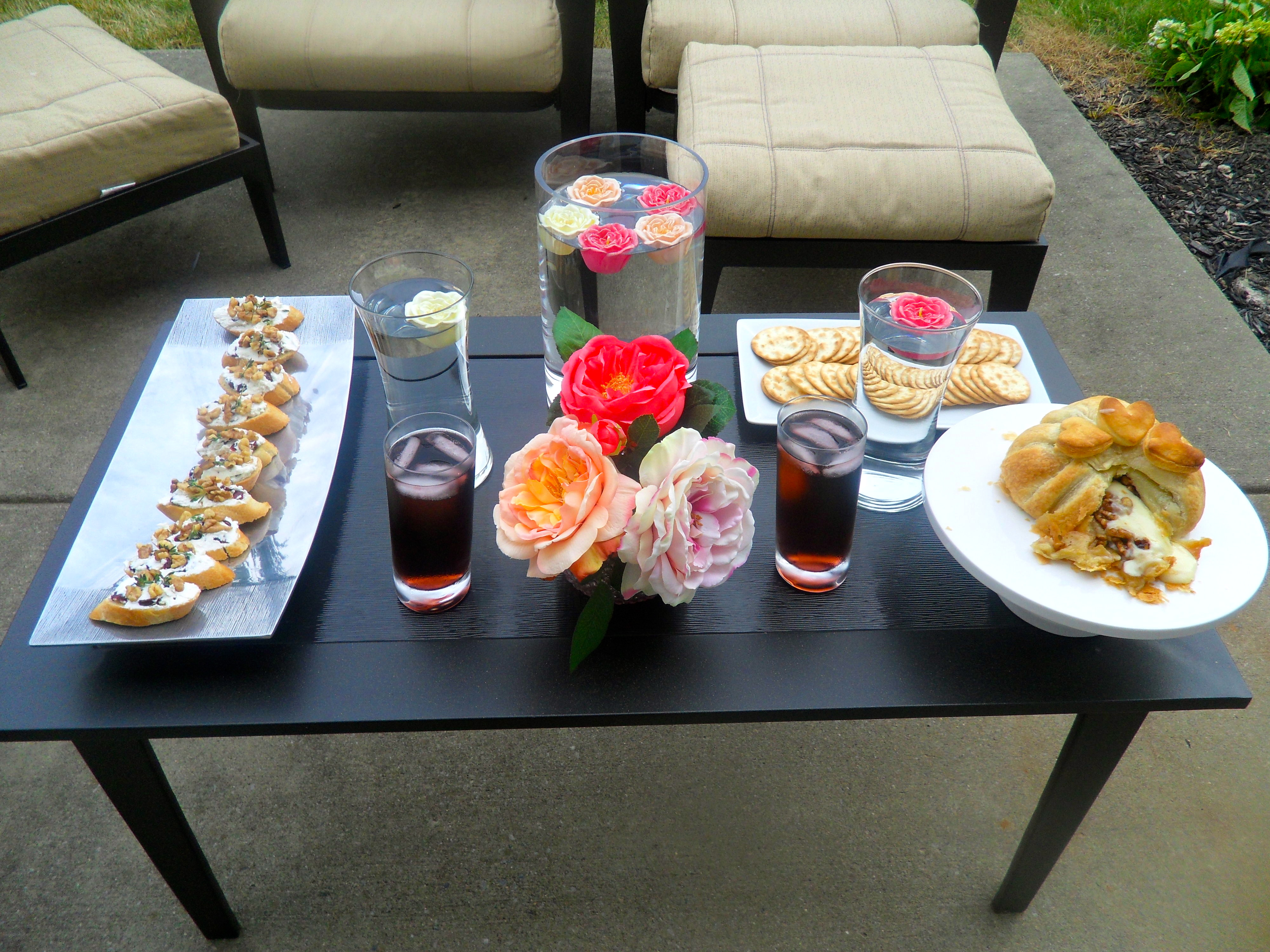 Anniversary dinner aperitifs and hors d oeuvres making
