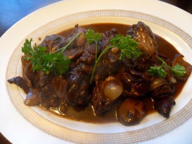 Platter of Coq Au Vin