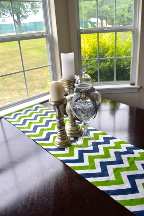 Finished Chevron Table Runner