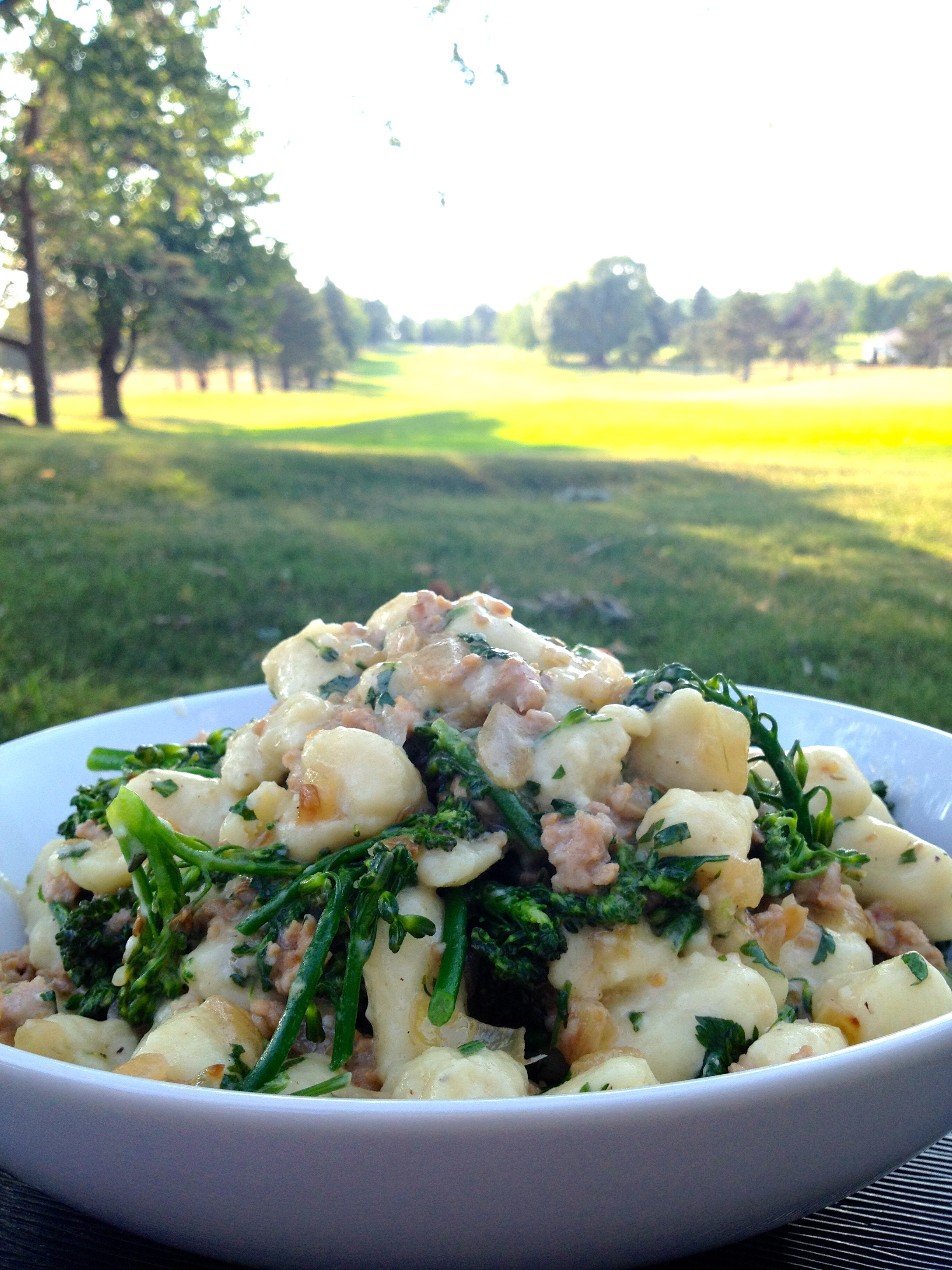 Gnocchi With Spicy Sausage, Caramelized Onions, And Broccoli Rabe ...