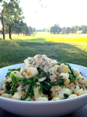 Gnocchi with Brown Butter, Sausage and Broccolini