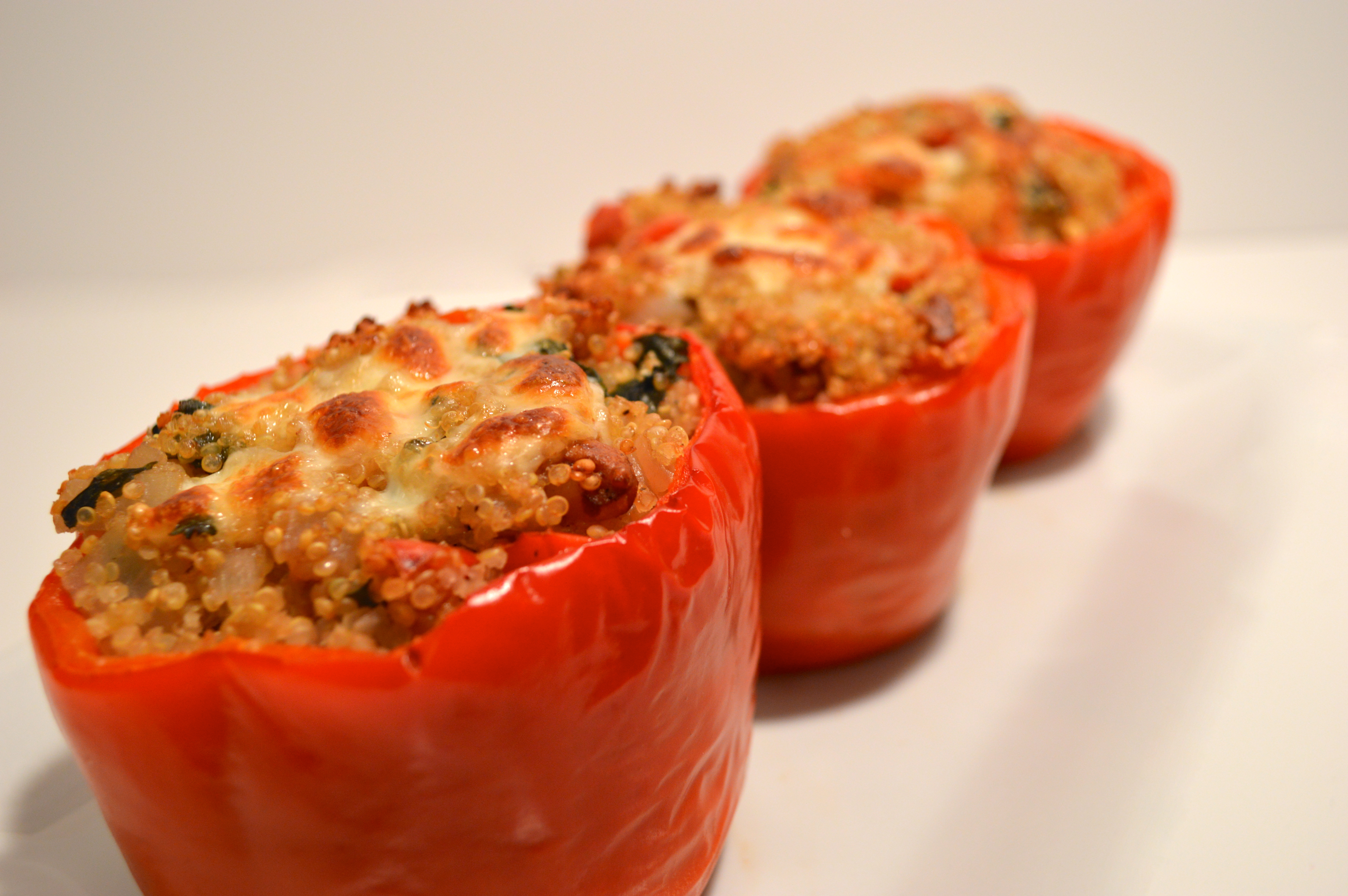 Stuffed Red Peppers With Quinoa And Provolone Recipes — Dishmaps