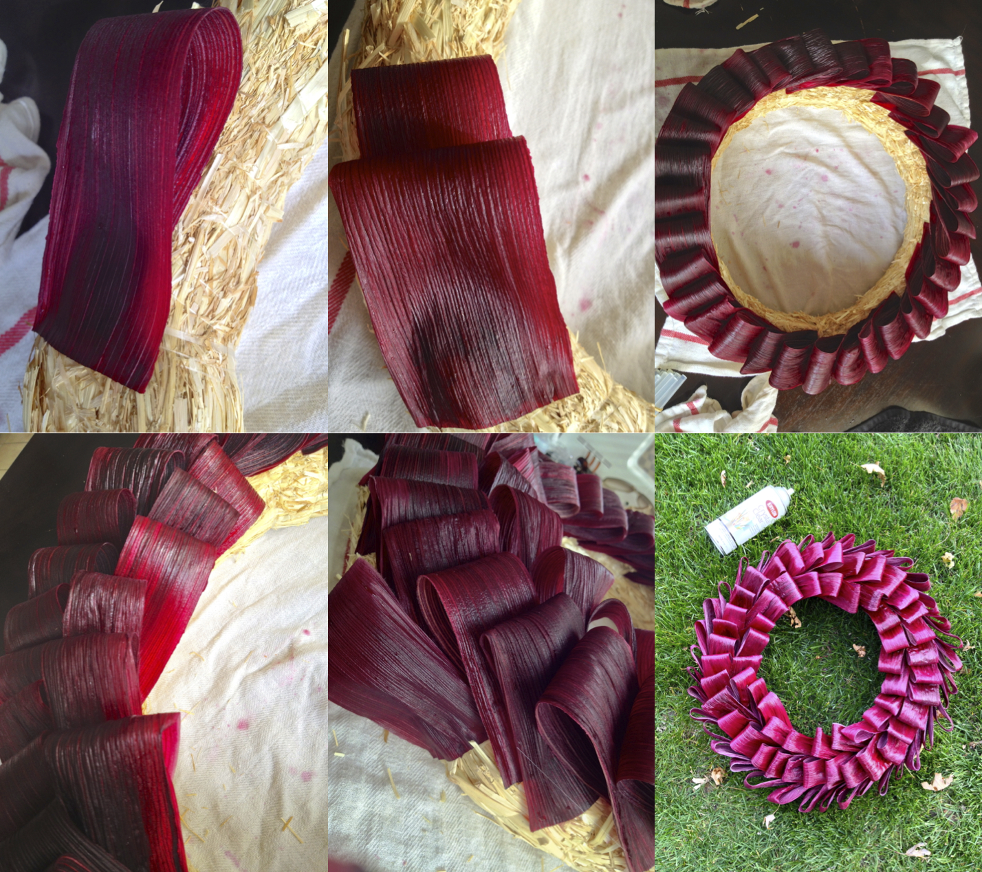 Dyed Corn Husk Wreath Making It With Danielle
