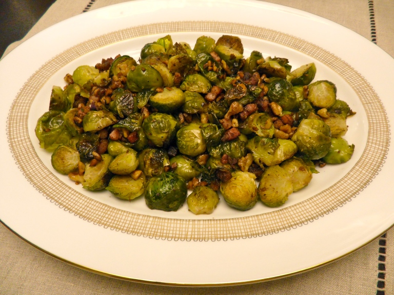 roasted brussel's sprouts with bacon