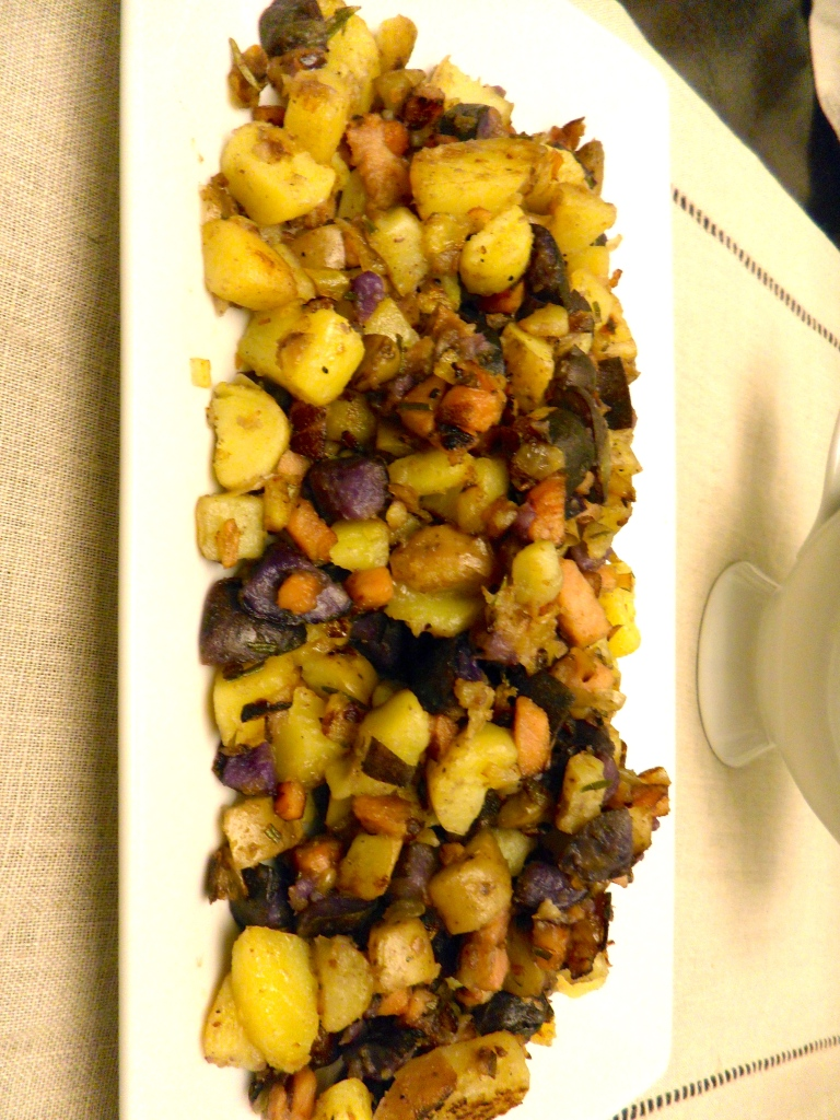 ham and fingerling potato hash