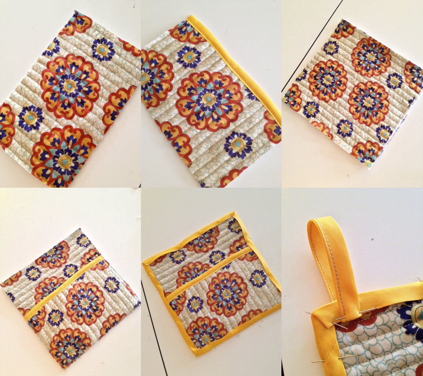 Homemade Pot Holders: Quilted Pot Holders With Pocket