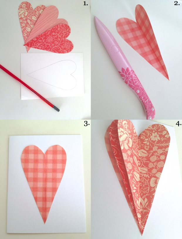 3d heart cards