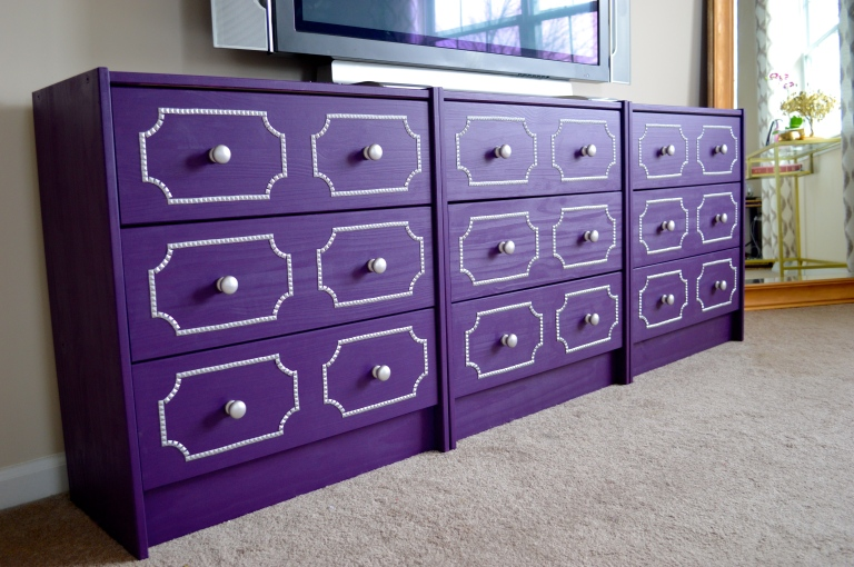 studded trim dresser low view