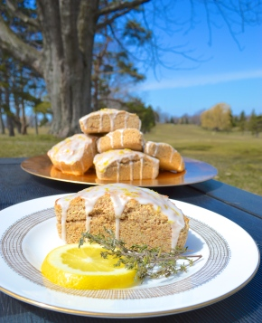 Whole Wheat Lemon Thyme Scones
