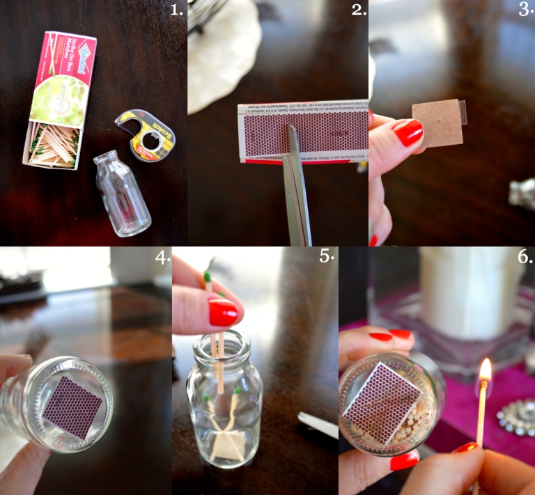 matchstick bottle how to