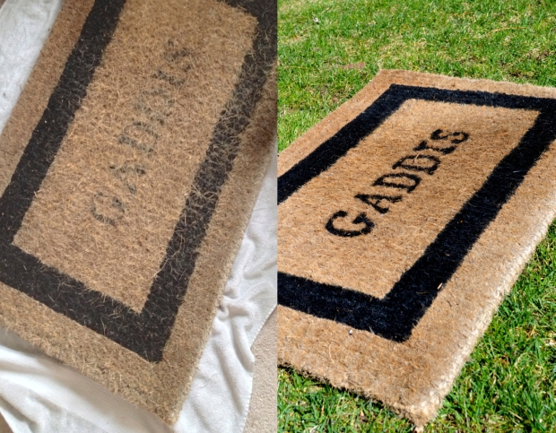 Painted Doormat Before and After