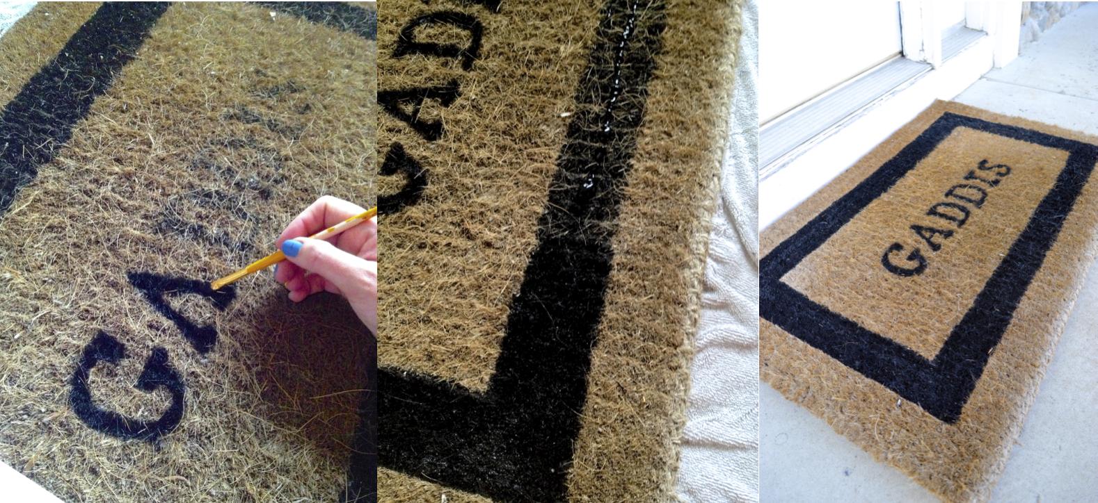 Repainting Old Doormats |