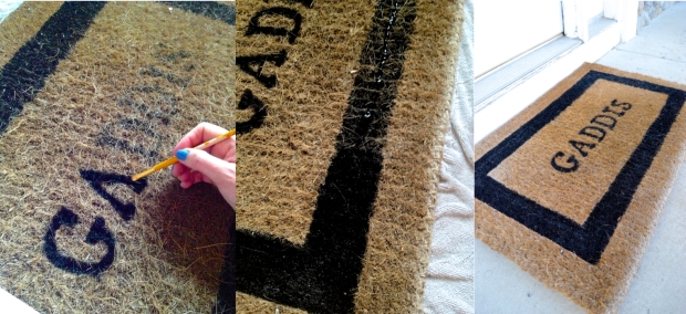 Painted Doormat How To