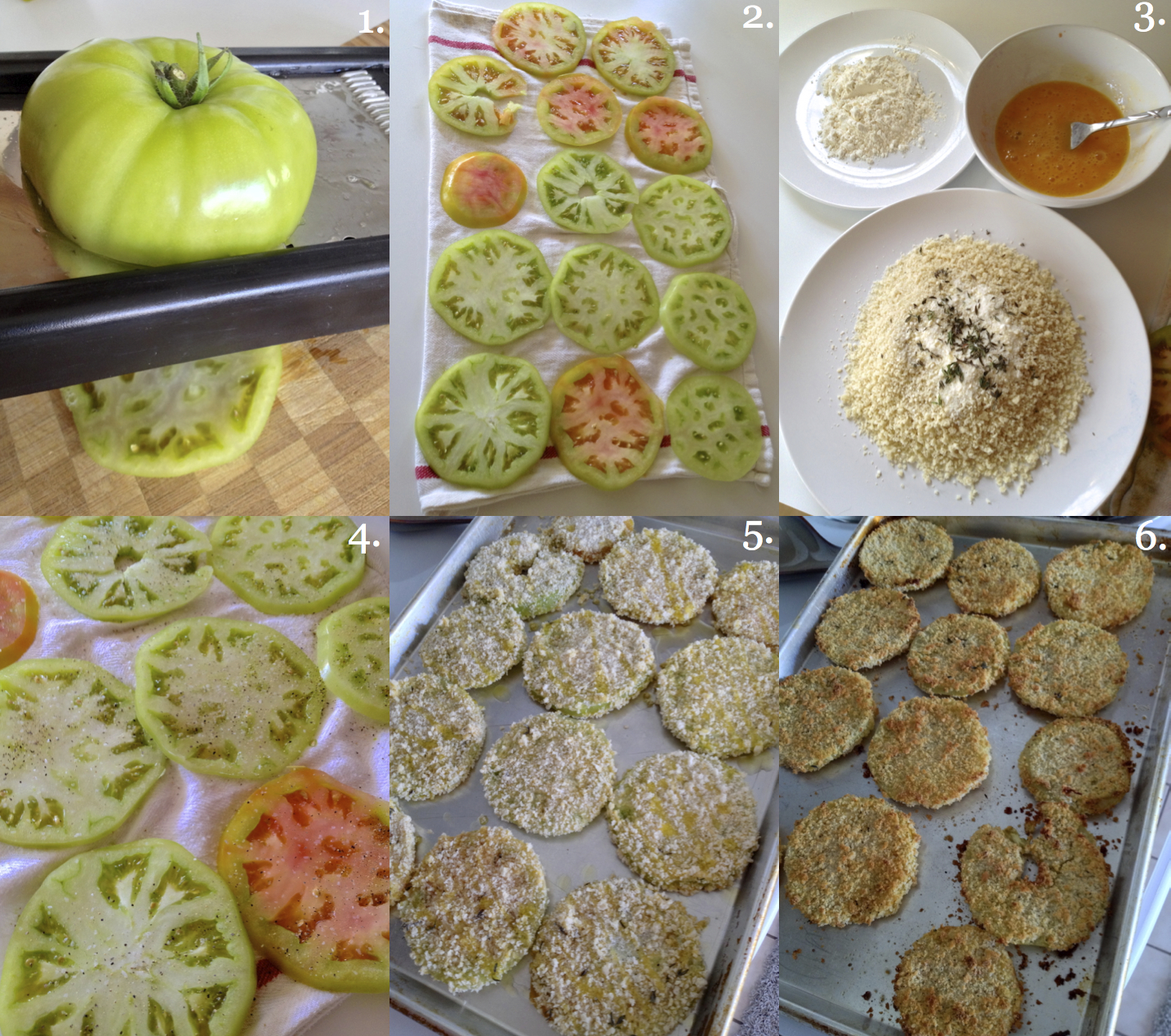 Oven-Baked Fried Green Tomatoes