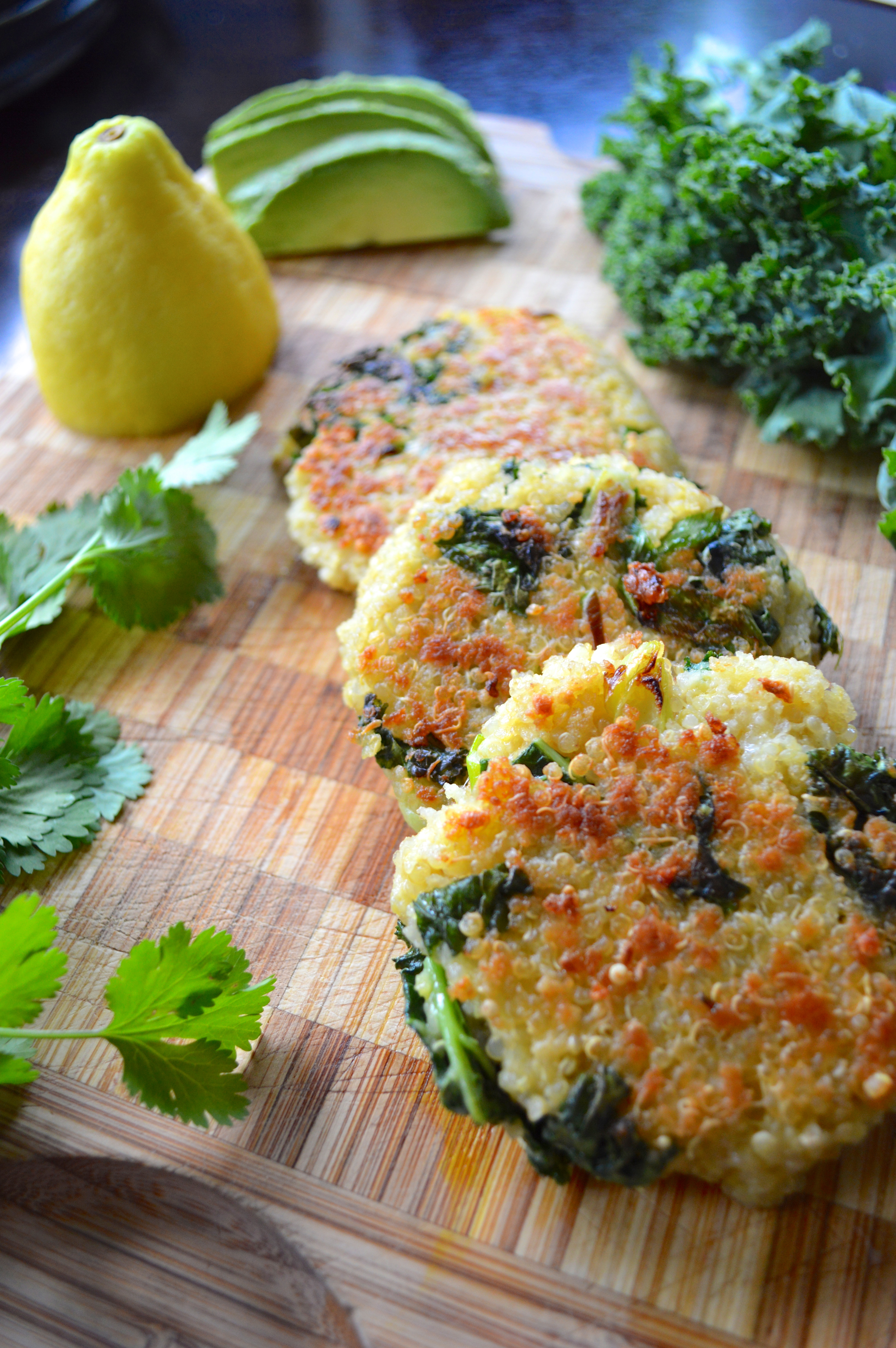 Kale & Quinoa Patties | making it with danielle