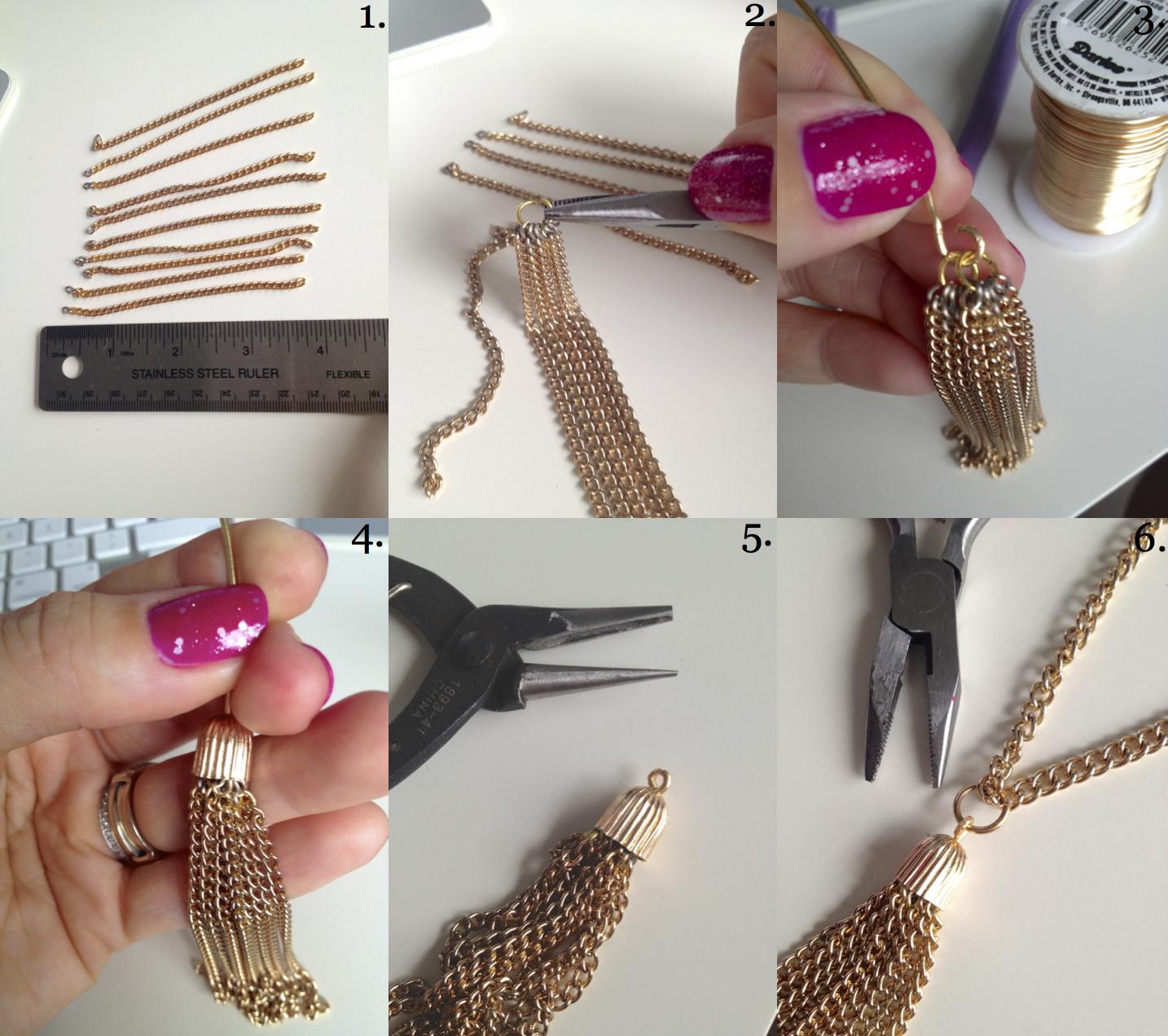 DIY Jimmy Choo Tassel Necklace | making it with danielle