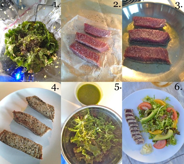 ahi tuna salad how to