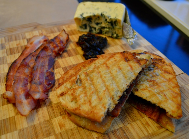 Bacon and Blue Cheese Panini