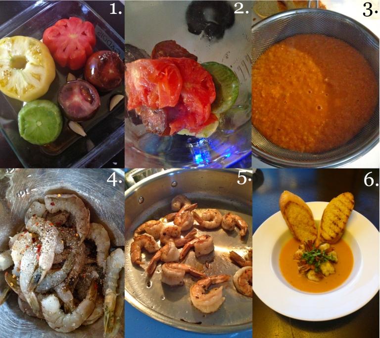 Heirloom Confit and Pan Sear Shrimp