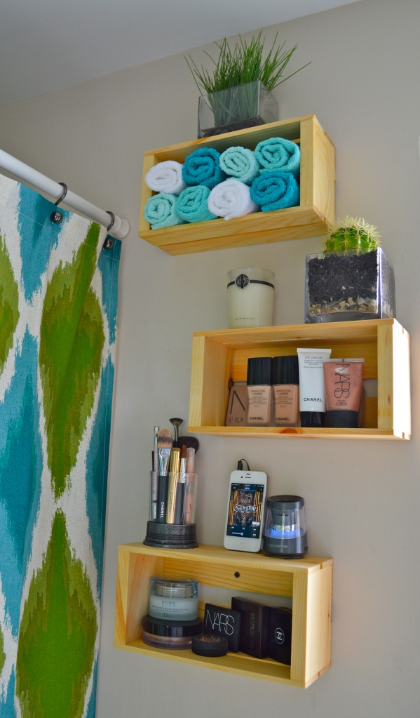 Wooden Crate Shelving