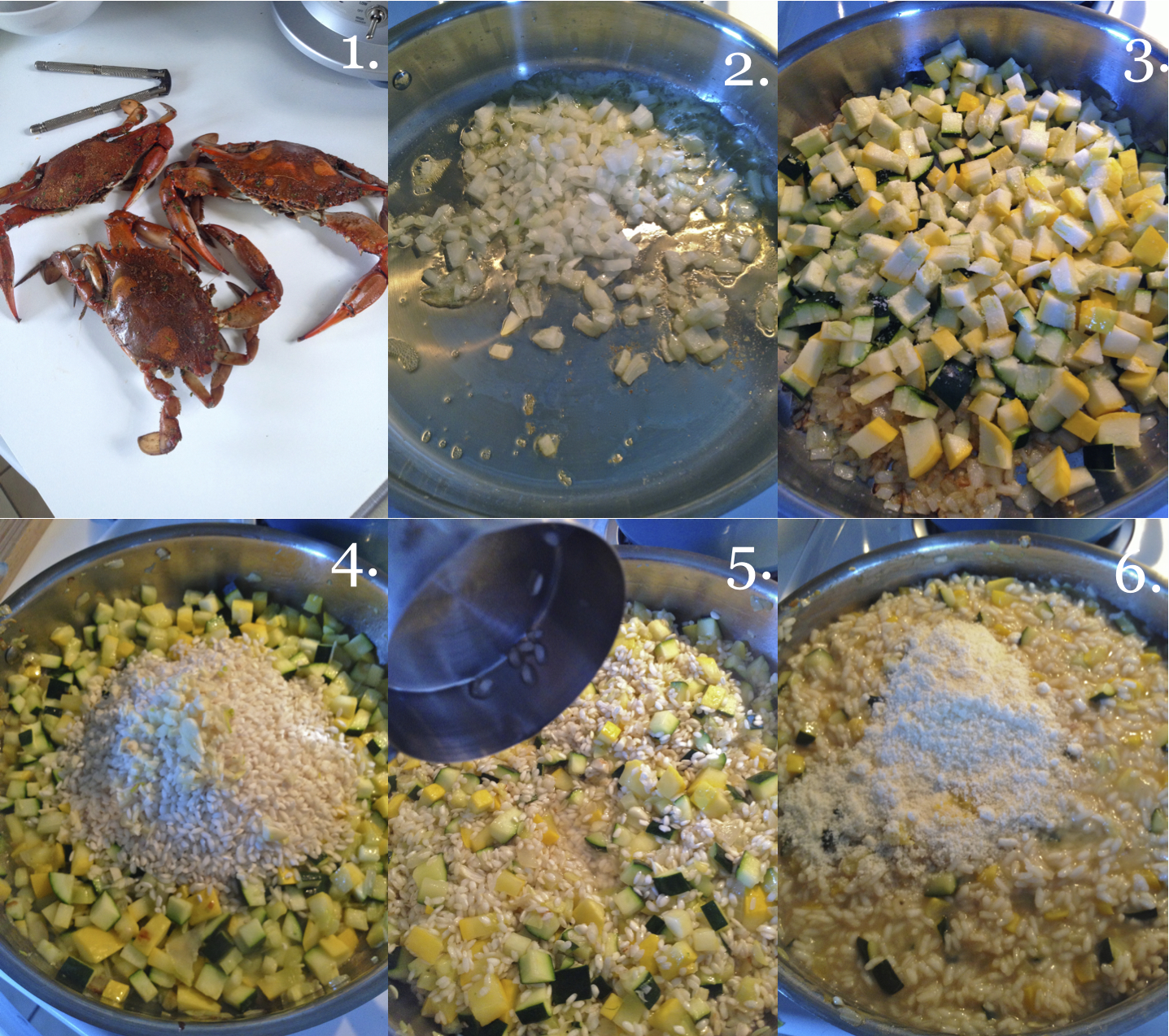 Summer Squash & Lemon Risotto with Crab   making it with ...