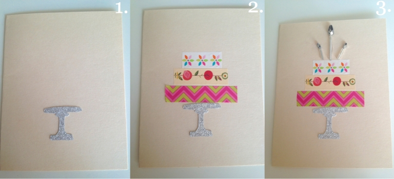 Washi Tape Cake Card How To